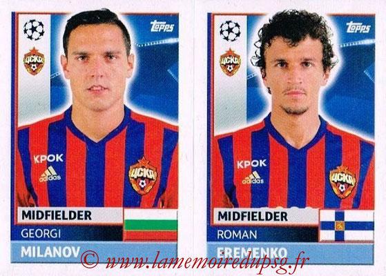 2016-17 - Topps UEFA Champions League Stickers - N° CSK 14-15 - Roman EREMENKO + Georgi MILANOV (CSKA Moscou)