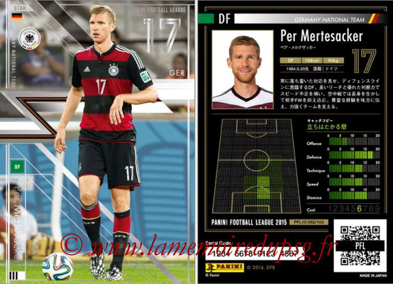 Panini Football League 2015 - PFL10 - N° 082 - Per MERTESACKER (Allemagne) (Star)