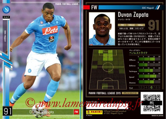 Panini Football League 2015 - PFL14 - N° 031 - Duvan ZAPATA (SSC Napoli)