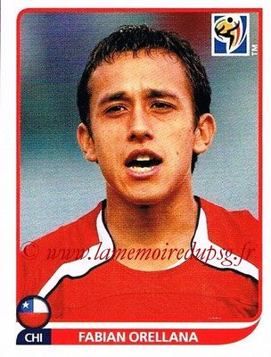 2010 - Panini FIFA World Cup South Africa Stickers - N° 633 - Fabian ORELLANA (Chili)