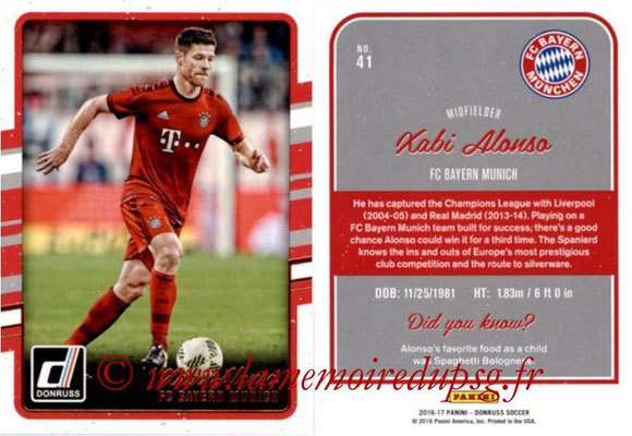 2016 - Panini Donruss Cards - N° 041 - Xabi ALONSO (FC Bayern Munich)
