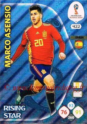 2018 - Panini FIFA World Cup Russia Adrenalyn XL - N° 422 - Marcus ASENSIO (Espagne) (Rising Star)