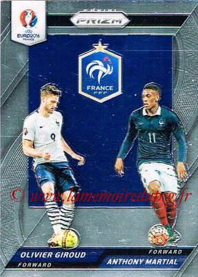 Euro 2016 Panini Prizm - N° CCD-03 - Olivier GIROUD + Anthony MARTIAL (France) (Country Combinaions Duals)