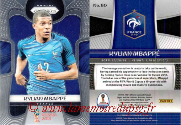 2018 - Panini Prizm FIFA World Cup Russia - N° 080 - Kylian MBAPPE (France)