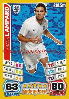Topps Match Attax England 2014 - N° 096 - Frank LAMPARD (Angleterre)