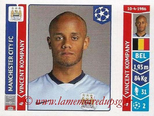 2014-15 - Panini Champions League N° 366 - Vincent KOMPANY (Manchester City FC)