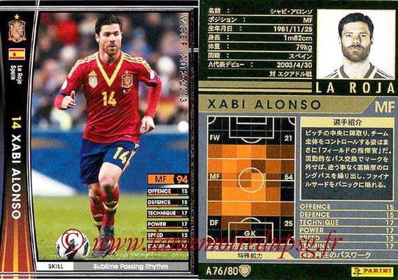 2012-13 - WCCF - N° A76 - Xabi ALONSO (Espagne)