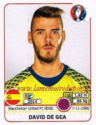 Panini Euro 2016 Stickers - N° 354 - David DE GEA (Espagne)