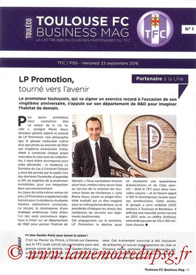 Programme Business  Toulouse-PSG  2016-17