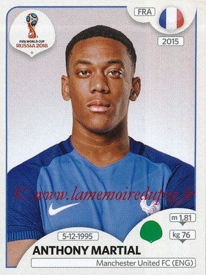 2018 - Panini FIFA World Cup Russia Stickers - N° 211 - Anthony MARTIAL (France)