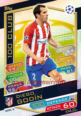 2016-17 - Topps UEFA Champions League Match Attax - N° 100C5 - Diego GODIN (Club Atletico Madrid) (100 Club)