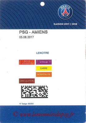 Tickets  PSG-Amiens   2017-18
