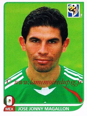 2010 - Panini FIFA World Cup South Africa Stickers - N° 054 - Jose Jonny MAGALLON (Méxique)