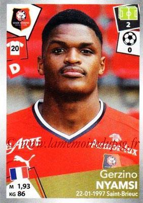 2017-18 - Panini Ligue 1 Stickers - N° 397 - Gerzino NYAMSI (Rennes)