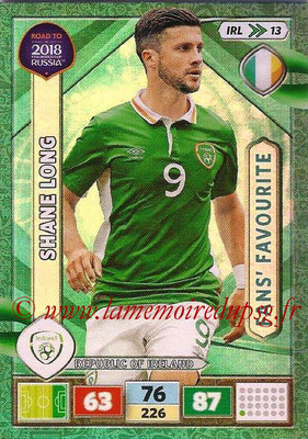 2018 - Panini Road to FIFA World Cup Russia Adrenalyn XL - N° IRL13 - Shane LONG (République d'Irlande) (Fans' Favourite) (UK Version)