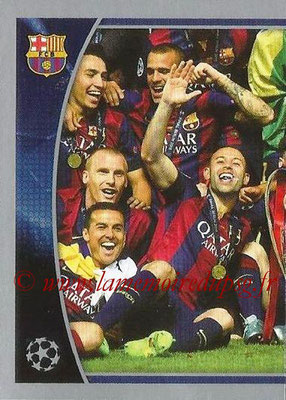 2015-16 - Topps UEFA Champions League Stickers - N° 609 - FC Barcelona 2014-15 (puzzle 1) (UEFA Champions League Winners)