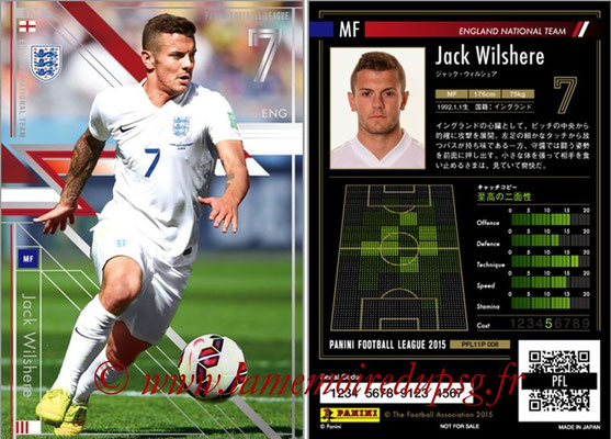 Panini Football League 2015 - PFL11P - N° 008 - Jack WILSHERE (Angleterre) (Star)