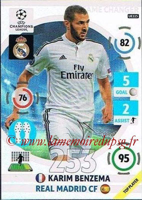2014-15 - Adrenalyn XL champions League Update edition N° UE115 - Karim BENZEMA (Real Madrid) (Game Changers)