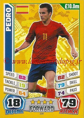 Topps Match Attax England 2014 - N° 216 - PEDRO (Espagne)