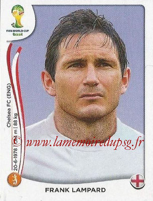 2014 - Panini FIFA World Cup Brazil Stickers - N° 308 - Frank LAMPARD (Angleterre)