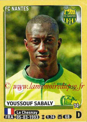 2015-16 - Panini Ligue 1 Stickers - N° 298 - Youssef SABALY (FC Nantes)