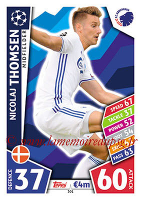 2017-18 - Topps UEFA Champions League Match Attax - N° 301 - Nicolaj THOMSEN (FC Copenhague)