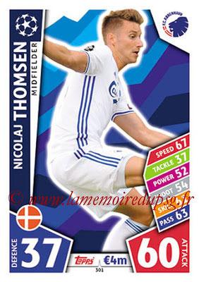 2017-18 - Topps UEFA Champions League Match Attax - N° 301 - Nicolaj THOMSEN (FC Copenhague)