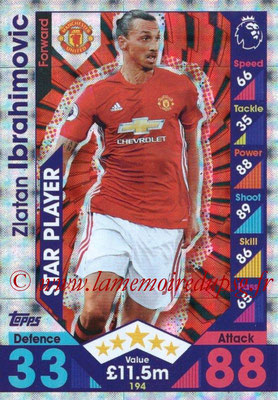 2016-17 - Topps Match Attax Premier League - N° 194