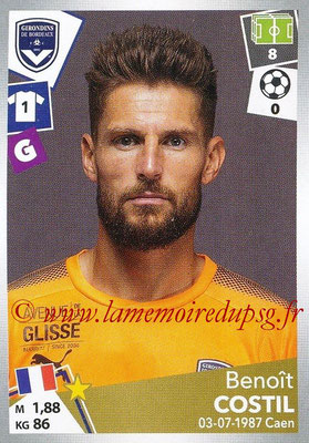 2017-18 - Panini Ligue 1 Stickers - N° 053 - Benoît COSTIL (Bordeaux)