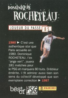 N° 085 - Dominique ROCHETEAU (Verso)