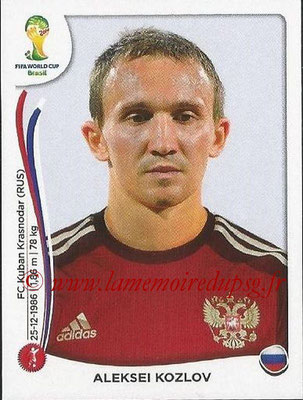 2014 - Panini FIFA World Cup Brazil Stickers - N° 610 - Aleksei KOZLOV (Russie)
