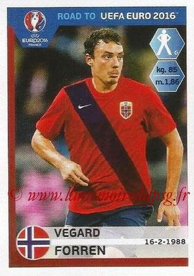 Panini Road to Euro 2016 Stickers - N° 181 - Veggard FORREN (Norvège)