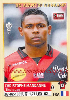 2014-15 - Panini Ligue 1 Stickers - N° 117 - Christophe MANDANNE (EA Guingamp)