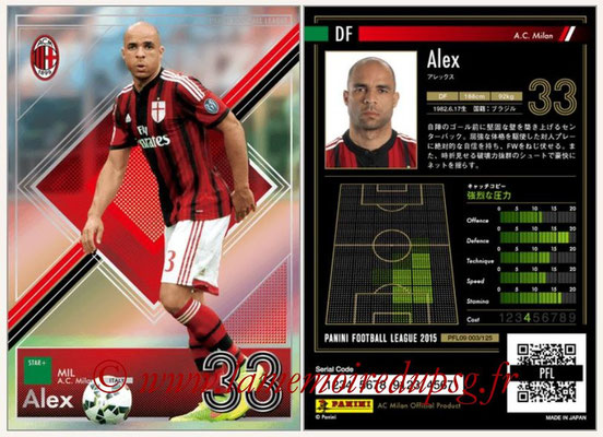 Panini Football League 2015 - PFL09 - N° 003 - ALEX (Milan AC)