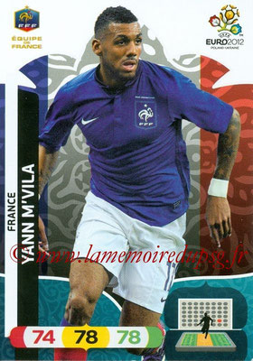 Panini Euro 2012 Cards Adrenalyn XL - N° 084 - Yann M'VILA (France)