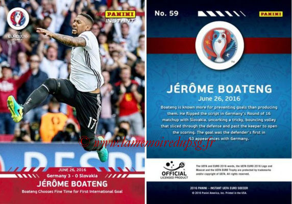 Panini Instant Euro 2016 - N° 059 - Jerome BOATENG