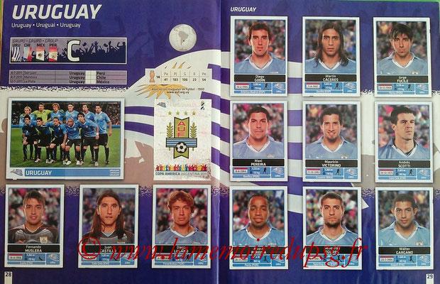 Panini Copa América Argentina 2011 - Pages 28 et 29 - Uruguay