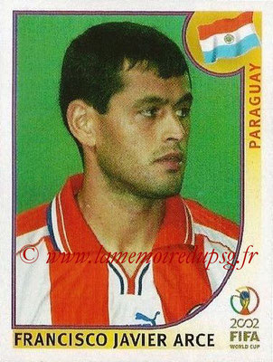 2002 - Panini FIFA World Cup Stickers - N° 136 - Francisco Javier ARCE (Paraguay)