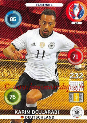 Panini Euro 2016 Cards - N° 072 - Karim BELLARABI (Allemagne)