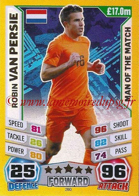 Topps Match Attax England 2014 - N° 260 - Robin VAN PERSIE (Pays-Bas) (Man Of The Match)