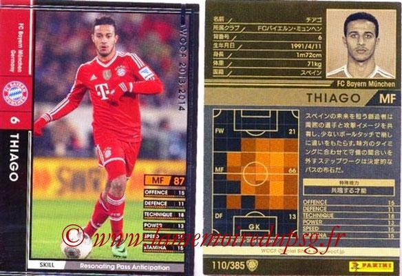 2013-14 - WCCF - N° 110 - THIAGO (FC Bayern Munich)