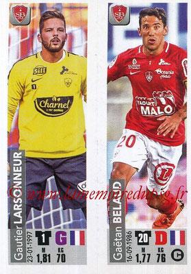 2018-19 - Panini Ligue 1 Stickers - N° 524 - Gautier LARSONNEUR + Gaëtan BELAUD (Stade Brestois 29)