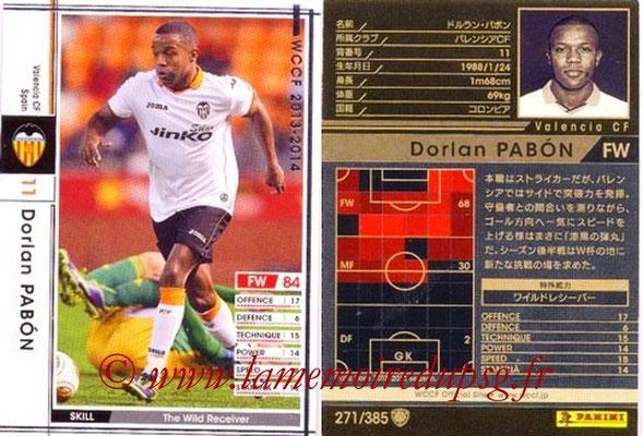 2013-14 - WCCF - N° 271 - Dorian PABON (FC Valence)