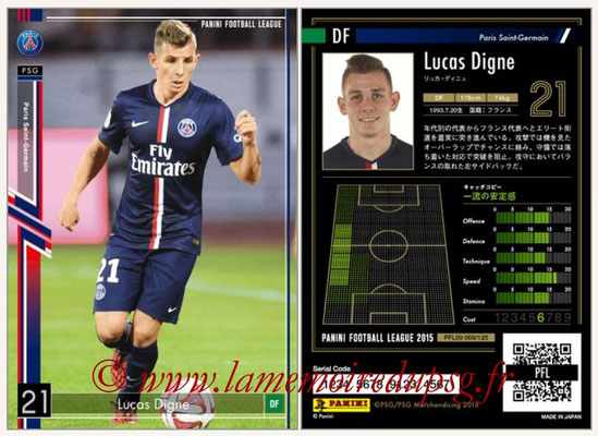 Panini Football League 2015 - PFL09 - N° 069 - Lucas DIGNE (Paris Saint-Germain)