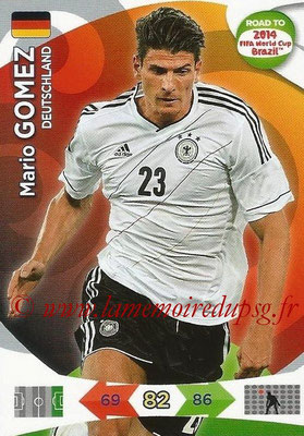 2014 - Panini Road to FIFA World Cup Brazil Adrenalyn XL - N° 060 - Mario GOMEZ (Allemagne)