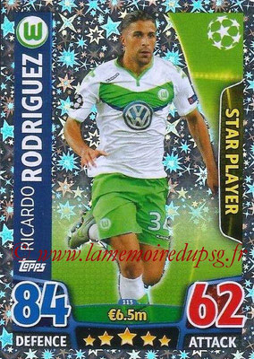 2015-16 - Topps UEFA Champions League Match Attax - N° 113 - Ricardo RODRIGUEZ (VFL Wolfsburg) (Star Player)