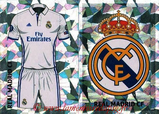 2016-17 - Topps UEFA Champions League Stickers - N° REA 1-2 - Logo + Maillot Domicile (Real Madrid CF)