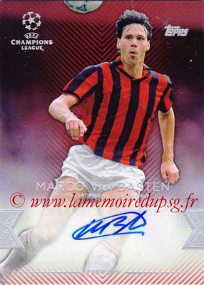 2015-16 - Topps UEFA Champions League Showcase Soccer - N° CLA-VB - Marco VAN BASTEN (Milan AC) (Base Autographs Cards)