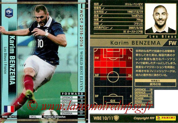2015-16 - Panini WCCF - N° WBE10 - Karim BENZEMA (France) (World Best Eleven)