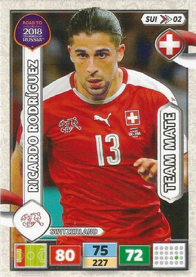 2018 - Panini Road to FIFA World Cup Russia Adrenalyn XL - N° SUI02 - Ricardo RODRIGUEZ (Suisse)